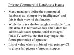 private commercial databases issues