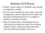 summary of ci process