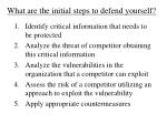 what are the initial steps to defend yourself