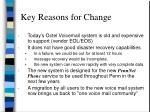 key reasons for change