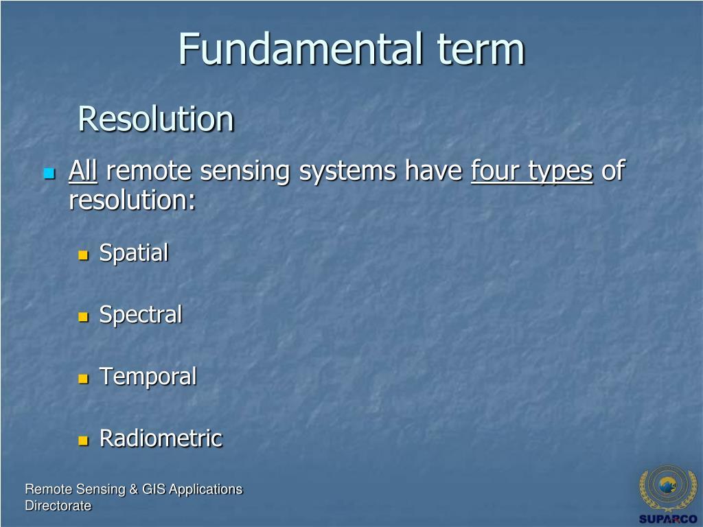 Fundamental term