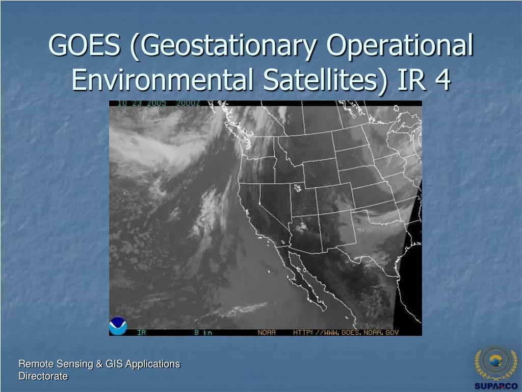 GOES (Geostationary Operational Environmental Satellites) IR 4