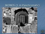 ikonos 1 m panchromatic