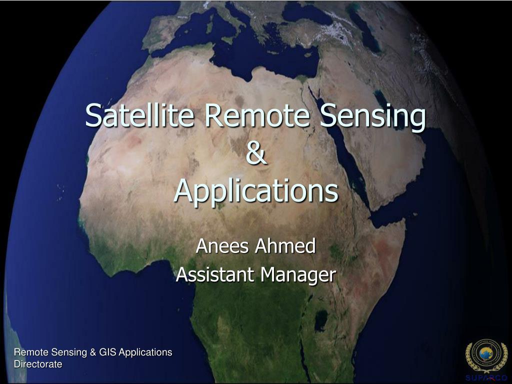 satellite remote sensing applications l.