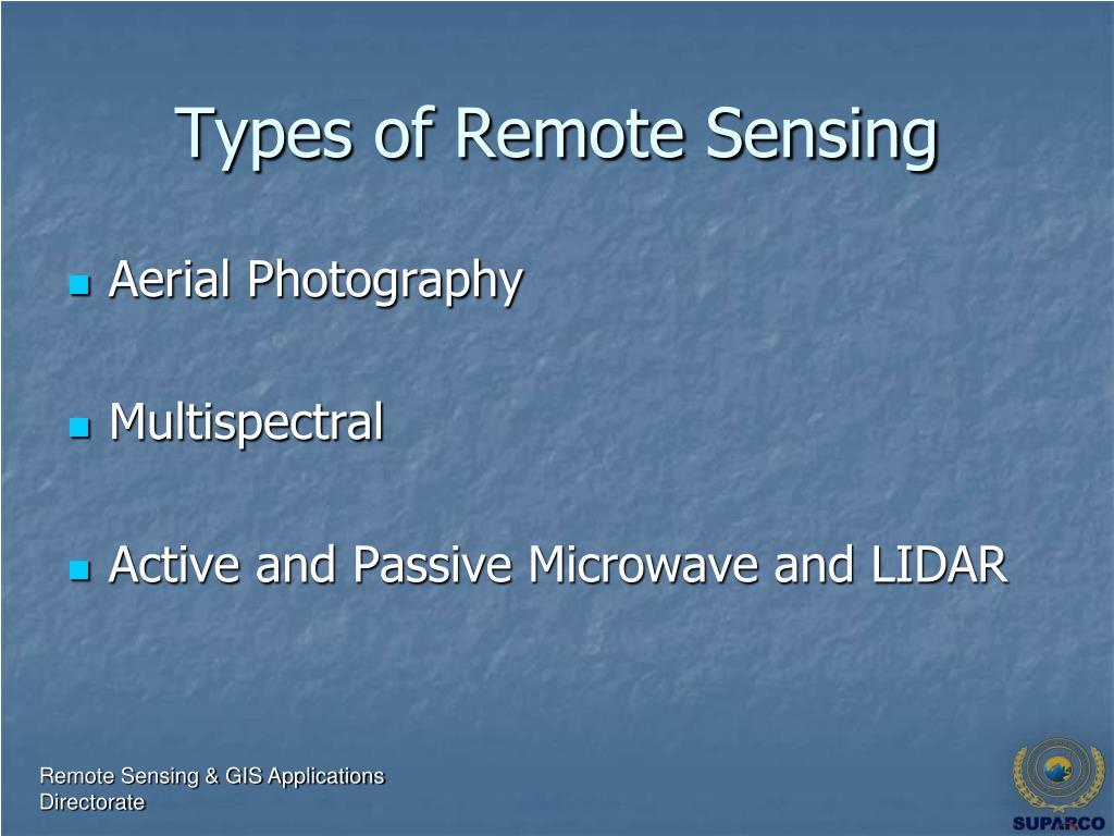 Types of Remote Sensing