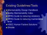 existing guidelines tools