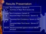 results presentation
