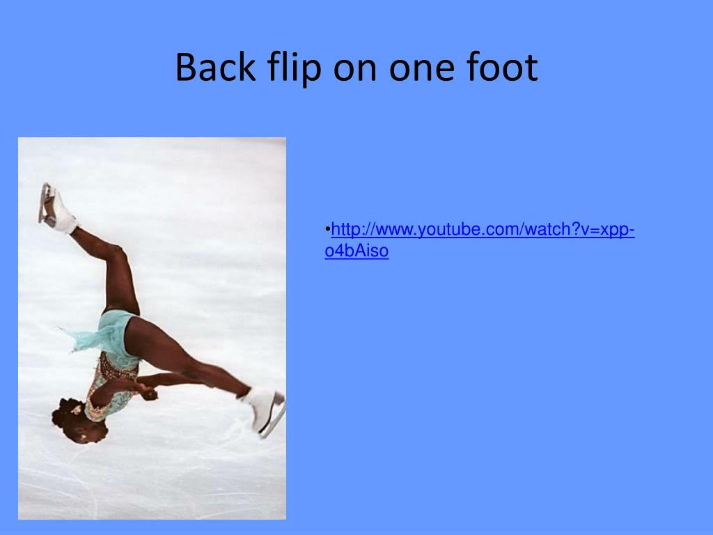 Back flip on one foot