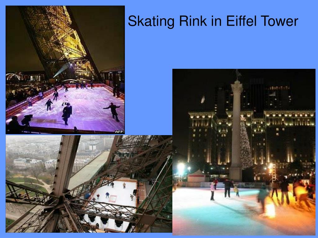 Skating Rink in Eiffel Tower