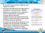 acuerdo ministerial no 386 2006