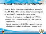acuerdo ministerial no 386 20065