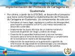 desarrollo de mecanismos para la implementaci n del protocolo de cartagena en guatemala