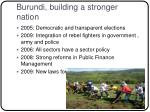 burundi building a stronger nation