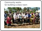 community works for building a class room