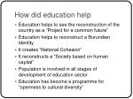 how did education help