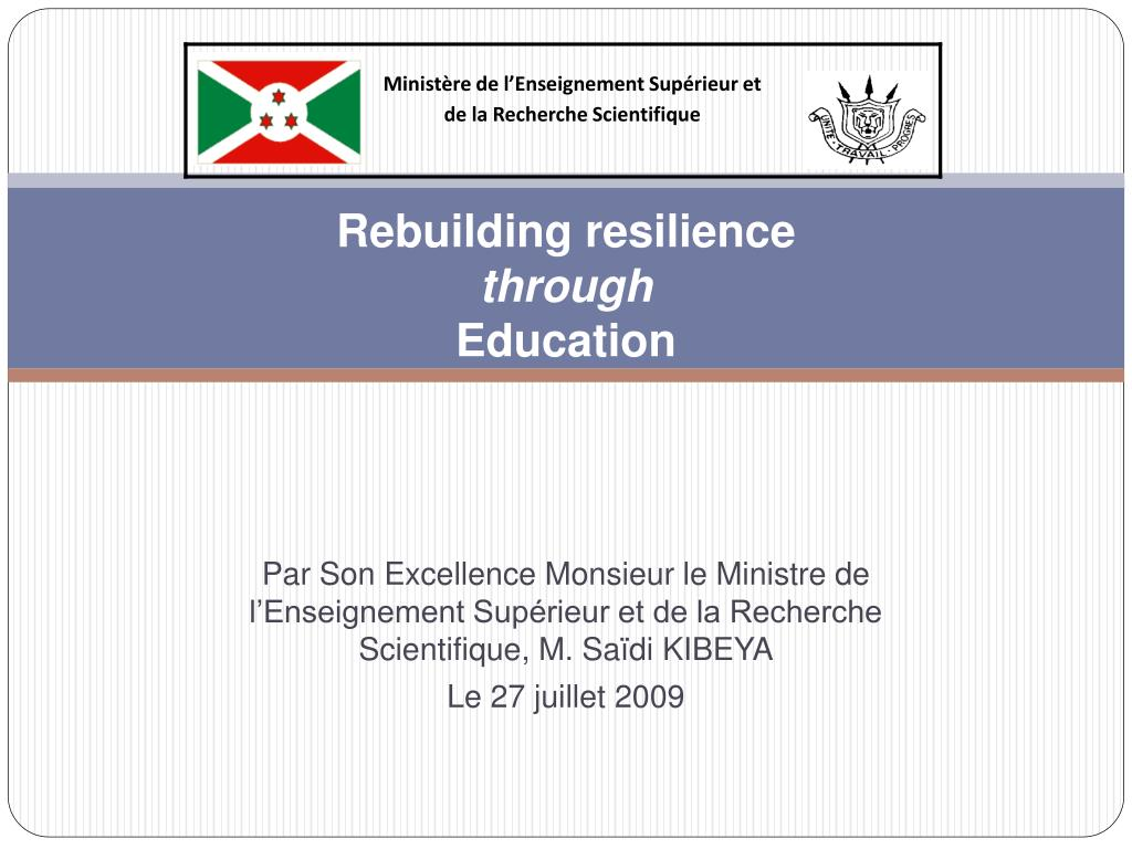 rebuilding resilience through education l.