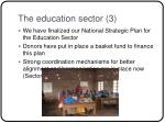 the education sector 3