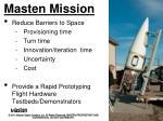 masten mission
