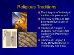 religious traditions