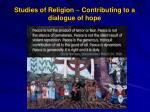studies of religion contributing to a dialogue of hope
