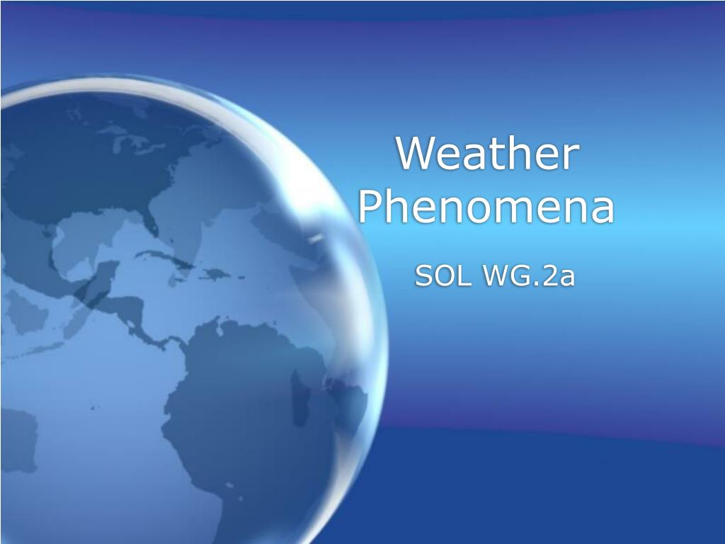 weather phenomena l.