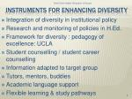 instruments for enhancing diversity