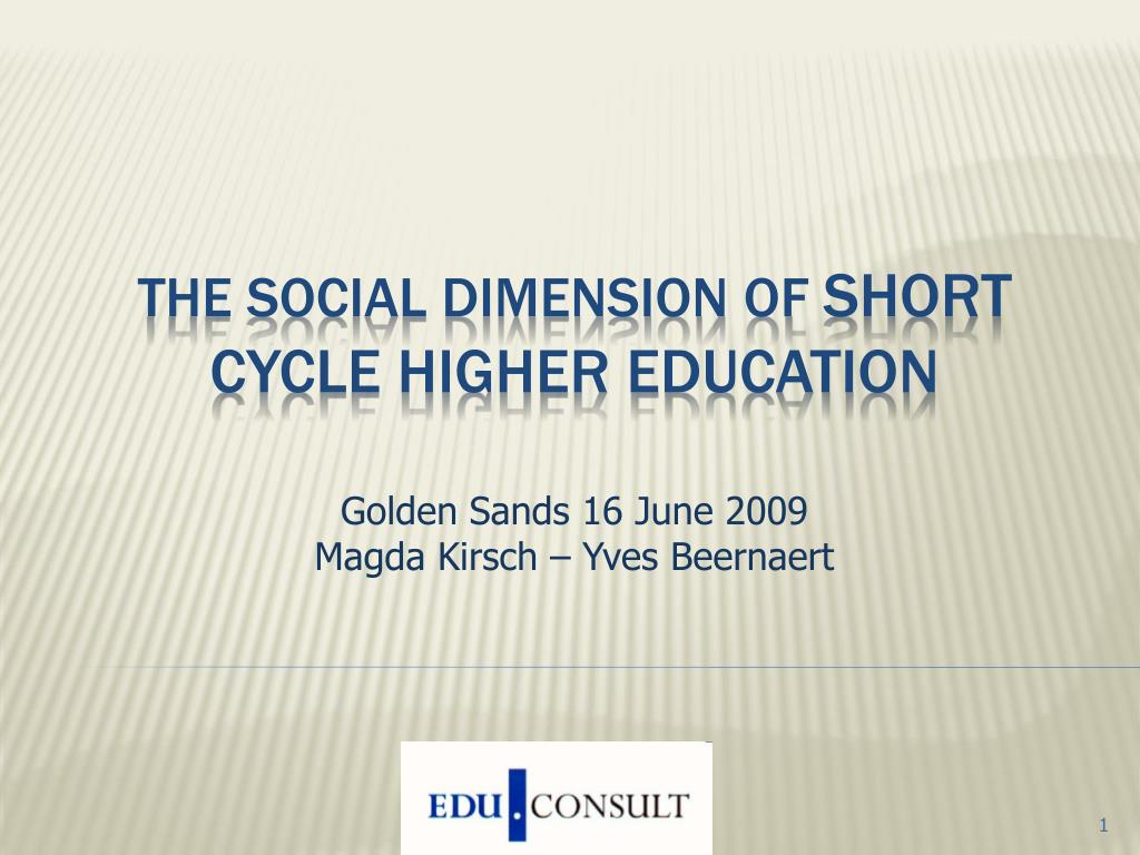 the social dimension of short cycle higher education l.