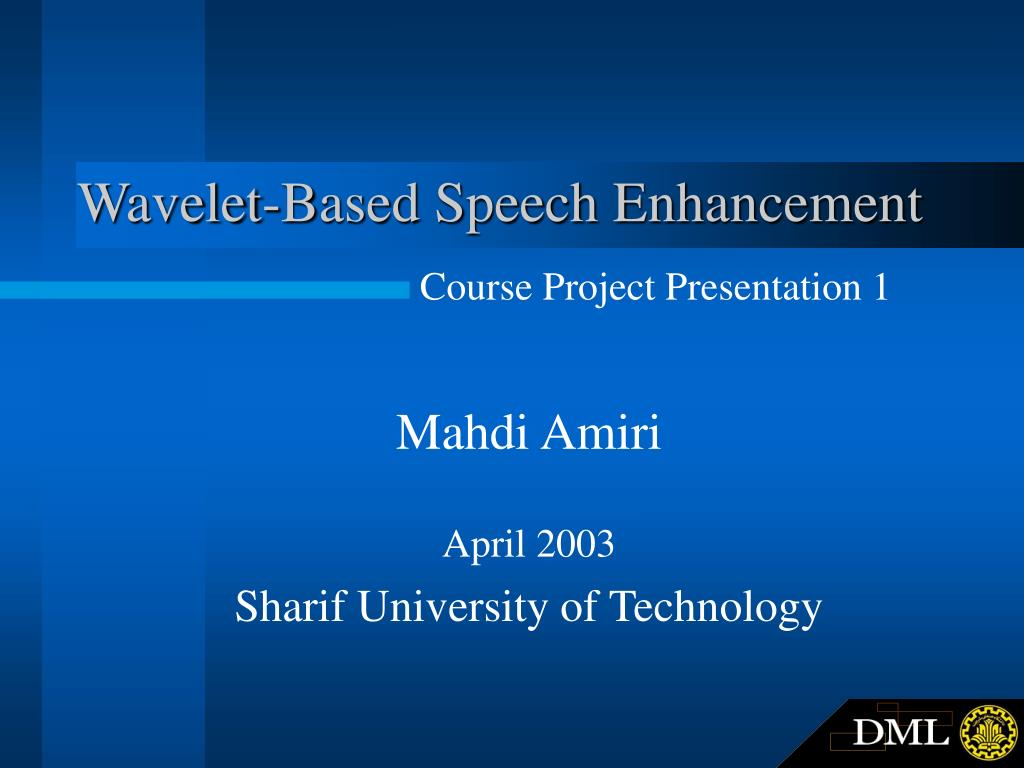 wavelet based speech enhancement l.