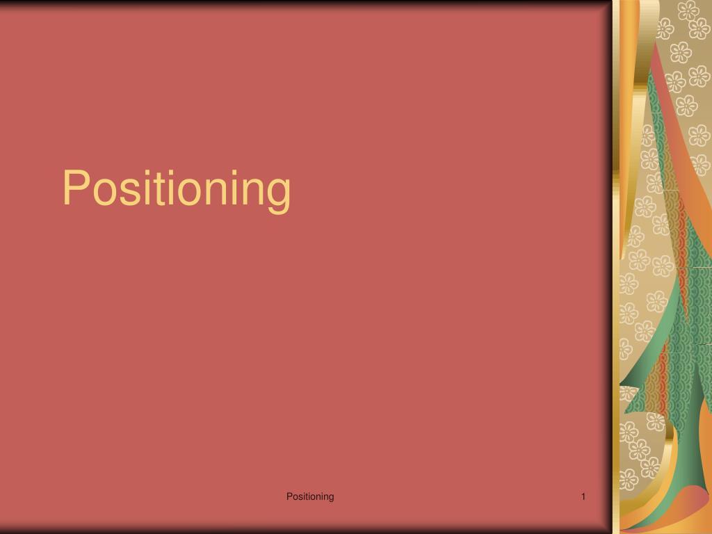 positioning l.