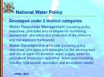national water policy