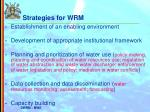 strategies for wrm