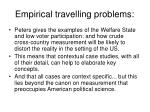 empirical travelling problems