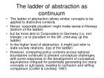 the ladder of abstraction as continuum