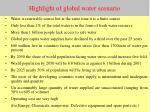 highlight of global water scenario