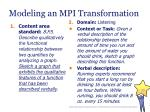 modeling an mpi transformation33