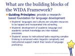 what are the building blocks of the wida framework15