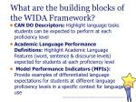 what are the building blocks of the wida framework24