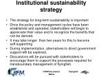 institutional sustainability strategy