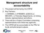 management structure and accountability