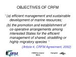 objectives of crfm