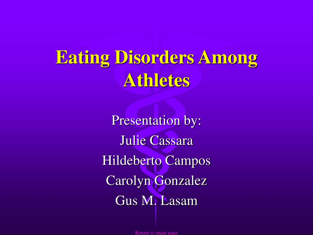 eating disorders among athletes l.