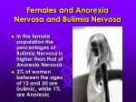 females and anorexia nervosa and bulimia nervosa