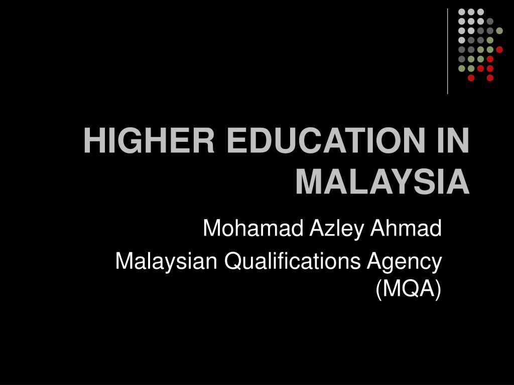 higher education in malaysia l.