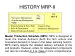 history mrp ii