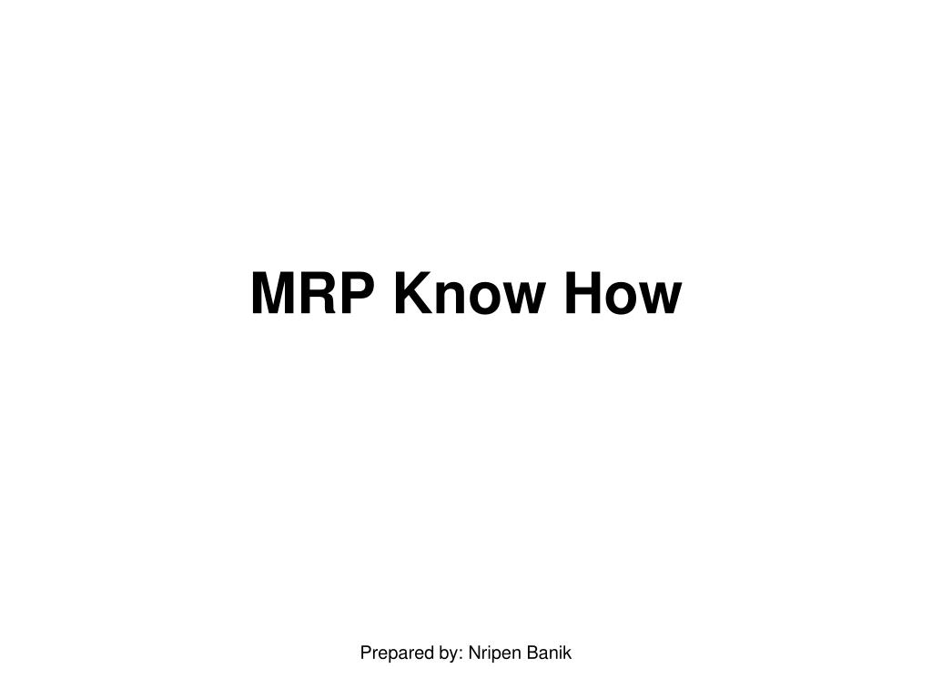 mrp know how l.
