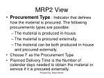 mrp2 view