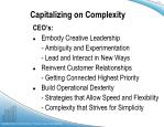 capitalizing on complexity4