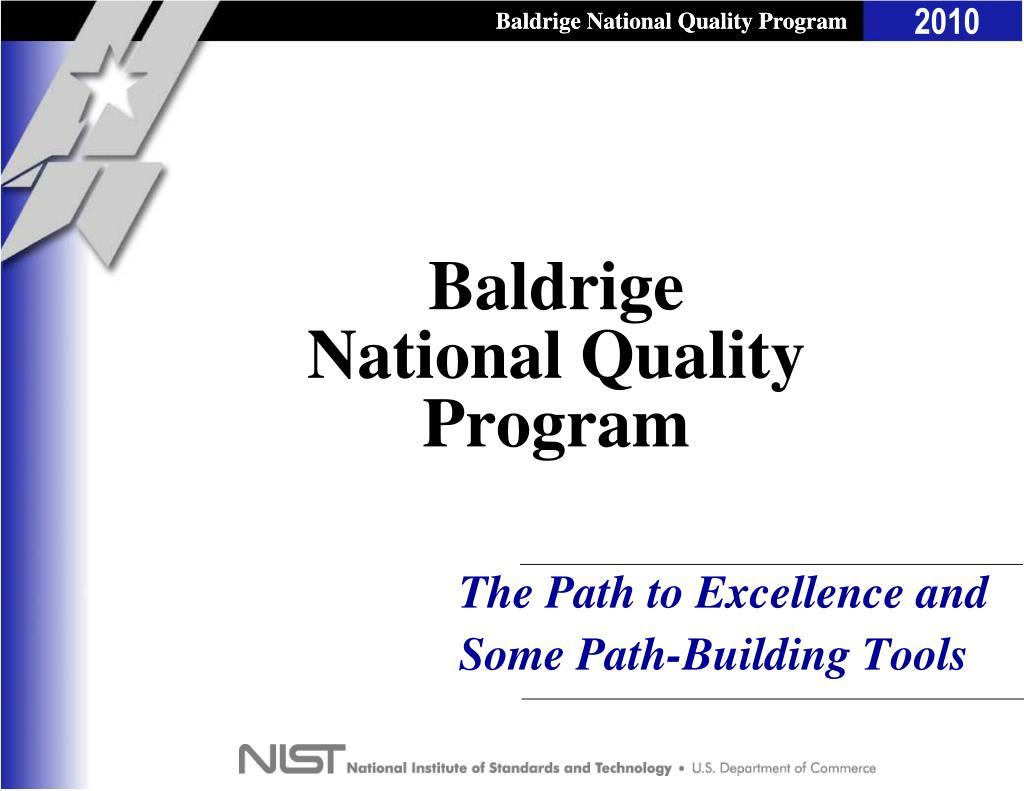 baldrige national quality program l.