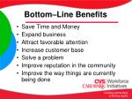 bottom line benefits