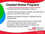 disabled worker programs